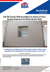 Cavity wall insulation report