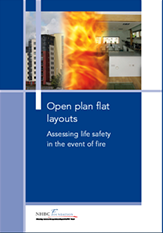 Open plan flat layouts - Assessing life safety in the event of fire