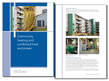 Community heating and combined heat and power