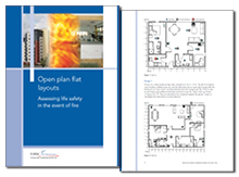 Open plan flat layouts: assessing life safety in the event of fire