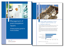 Management of post-completion repairs: a best practice guide for home builders