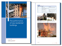 Fire performance of new residential buildings