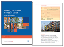 Building sustainable homes at speed: risks and rewards