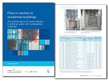 Fires in cavities in residential buildings: the performance of cavity barriers in external walls with combustible materials