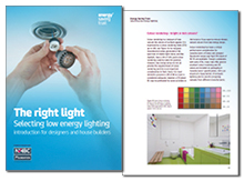 The right light: selecting low energy lighting – introduction for designers and house builders