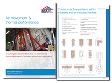 Air movement and thermal performance report: an investigation into the effect of air movement on the thermal performance of domestic pitched roof constructions