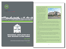 Mechanical ventilation with heat recovery in new homes: final report