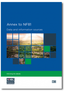 Annex to NF81: data and information sources
